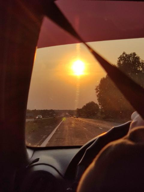Vue de la route vers Boryspol